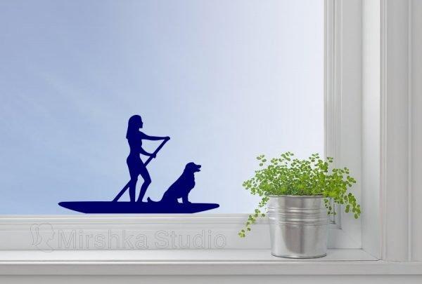 paddle boarder sticker