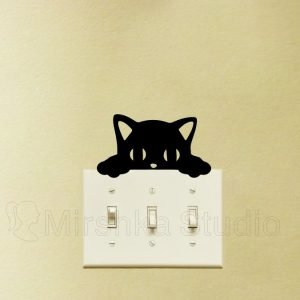 peeking cat decor sticker