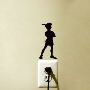 peter pan Silhouette sticker