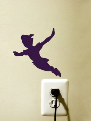 peter pan flying silhouette sticker