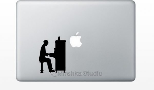 piano player mcbook decal