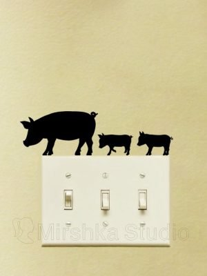 pigs stickers for wall