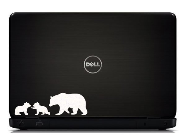 polar bears laptop sticker