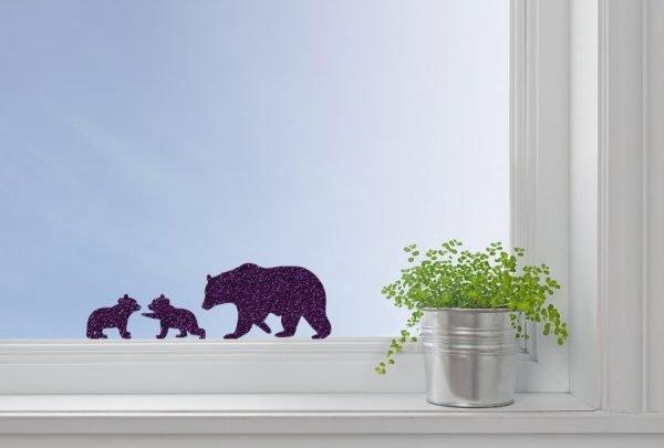 polar bears window decal