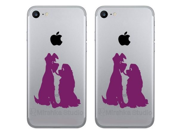 purple Lady and the Tramp decals stickers