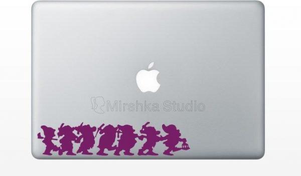 purple Seven Dwarfs snow white mac decal