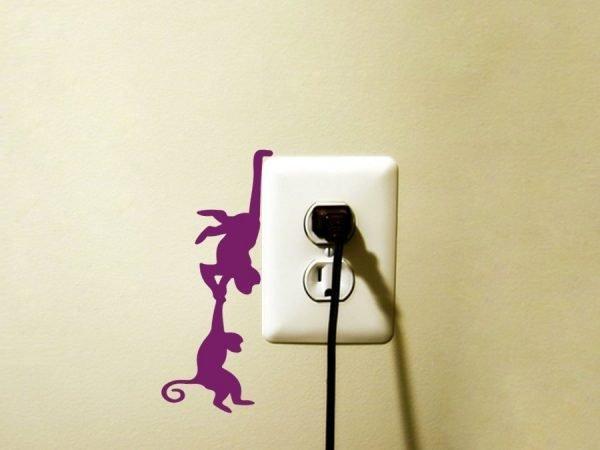 purple monkey decal