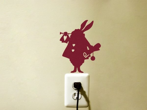red bunny wall decal