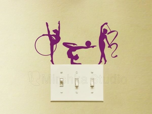 rhythmic gymnastics dancers wall decor