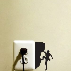rock climbing art decal