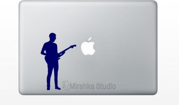 rock guitar mcbook decor