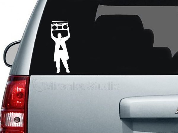 say anything car decal