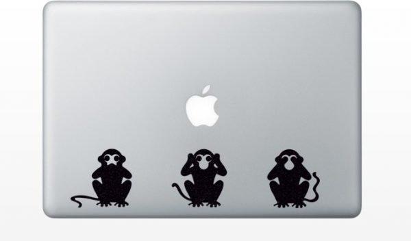 see no evil hear no evil speak no evil macbook decals