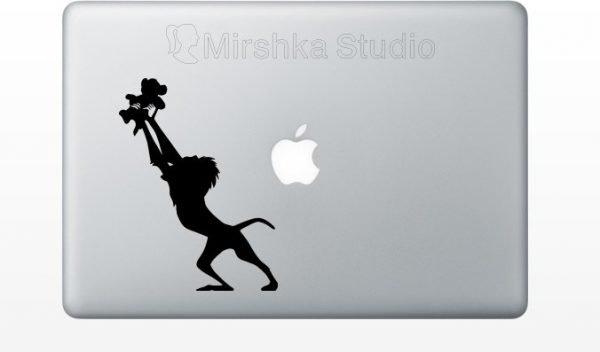 simba lion king mac decal