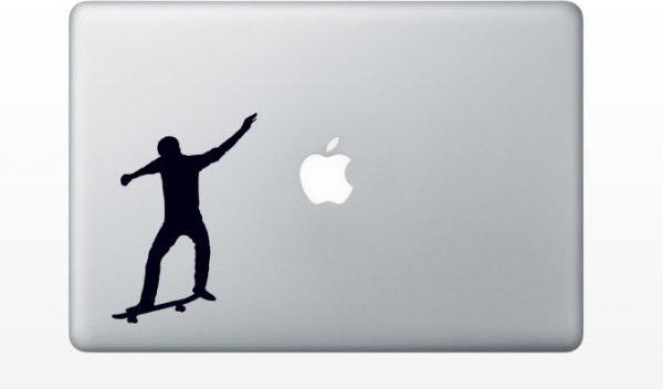 skateboarding mac decal
