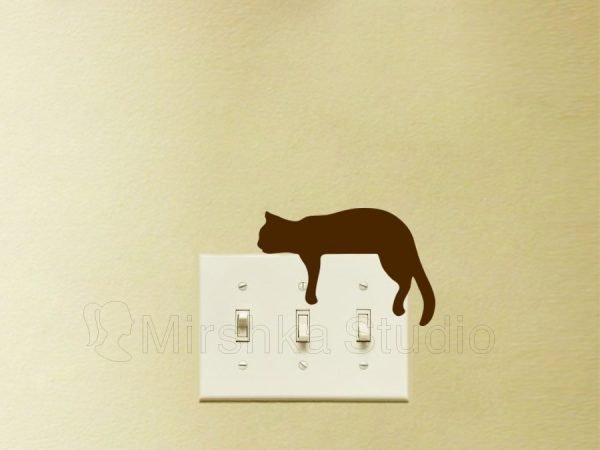 sleeping cat wall decor