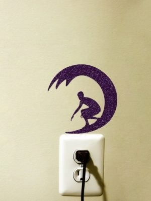 surfer light switch sticker