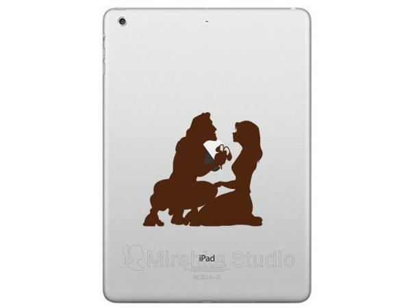 tarzan and jane jungle ipad decal