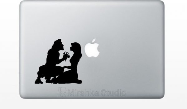 tarzan and jane laptop decal