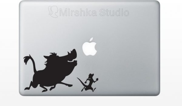 timpne and pumba fabric decal