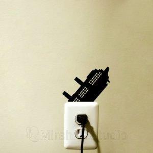 titanic silhouette sticker