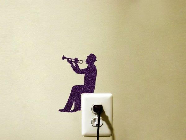 trumpet player sticker