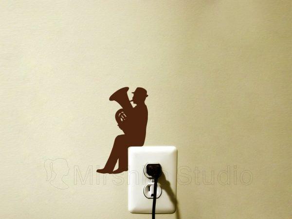 tuba music wall decal