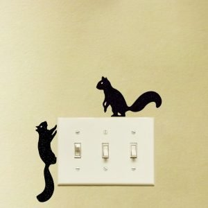 two Squirrels light switch stickers