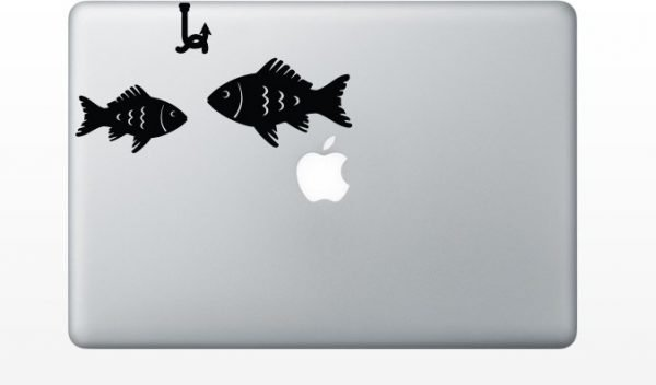 two fish macbook decals