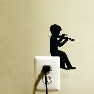 violin art sticker