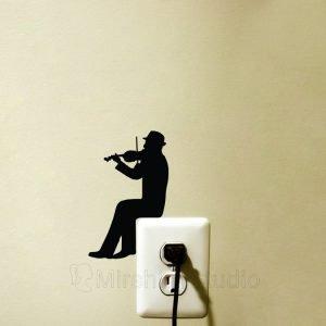 violinist wall sticker