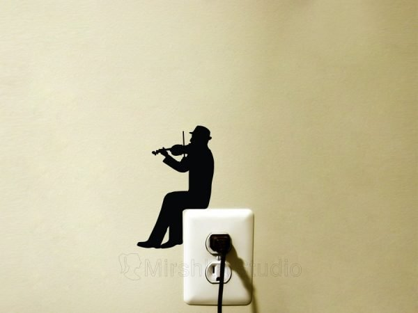 violinist wall sticker