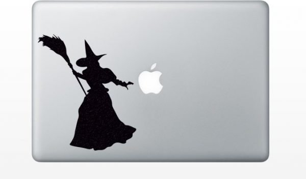wicked witch macbook decal