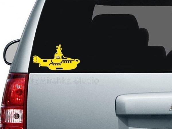 yellow submarine car decal