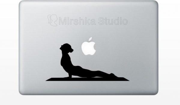 yoga poses mac decal
