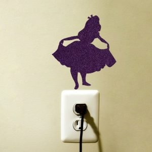 Alice in Wonderland Fabric Sticker - Disney Inspired Wall Decal