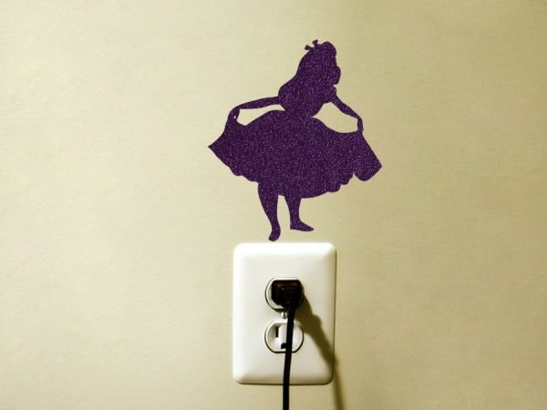 Alice in Wonderland Fabric Sticker - Disney Inspired Wall Decal