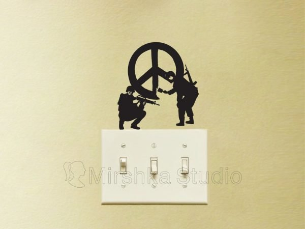 Banksy CND Soldiers sticker