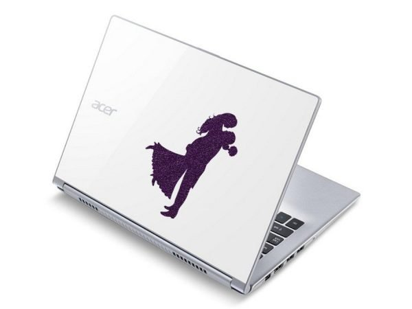 Bride and Groom Silhouette Decal