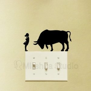 Fearless Girl and Charging Bull Wall Street Sticker