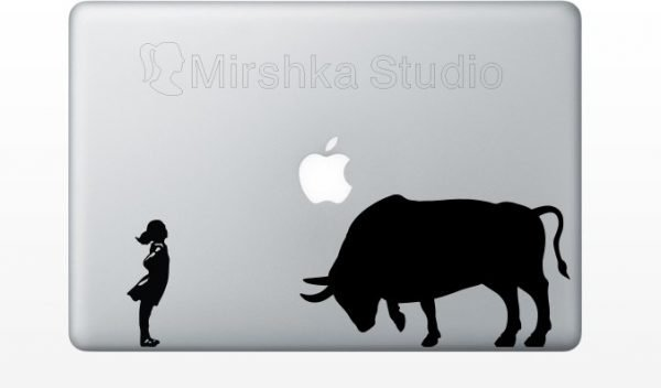Fearless Girl laptop decal