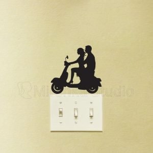 Feminist Gifts Stickers - Girl Riding Vespa Wall Decal