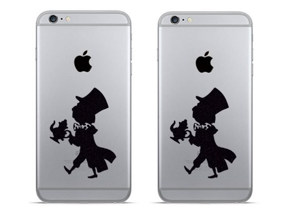 Mad Hatter iphone stickers