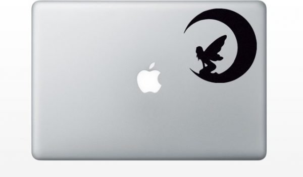 Moon Fairy mac decal