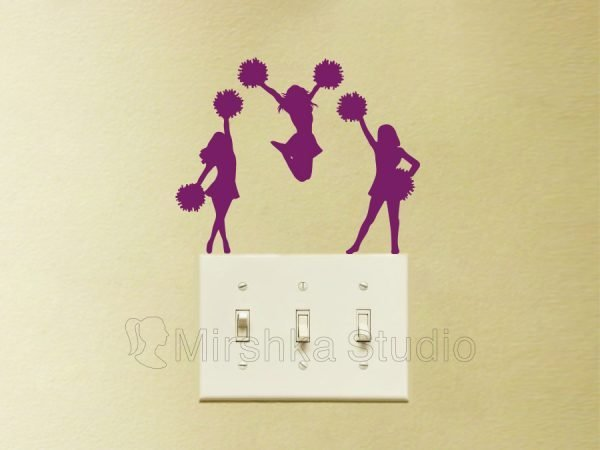 cheerleader purple decals