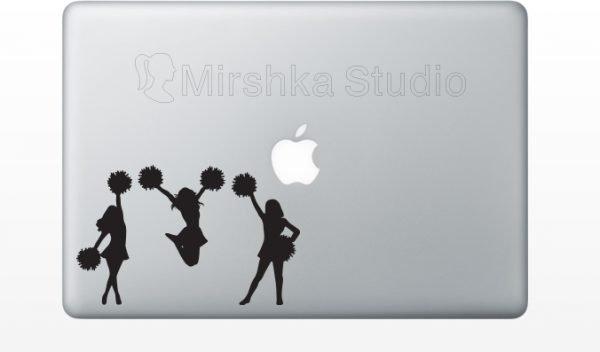 cheerleading laptop sticker