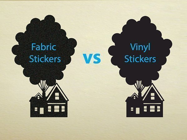 fabric stickers vs vinyl stickers