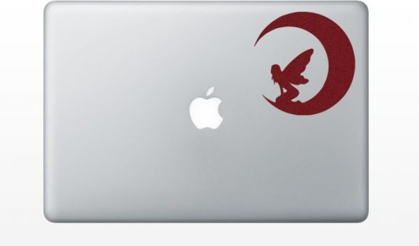 red fairy laptop decal