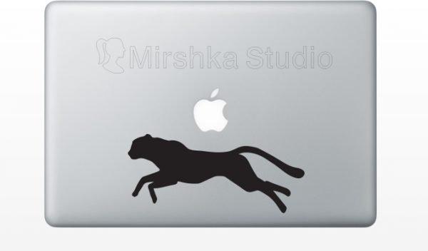 cheetah laptop decal