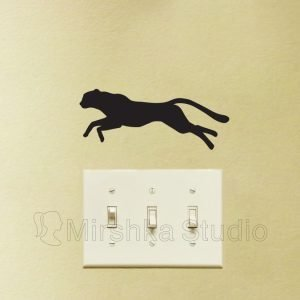 cheetah wall sticker
